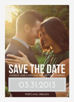 Simple Nature Save the Date Cards