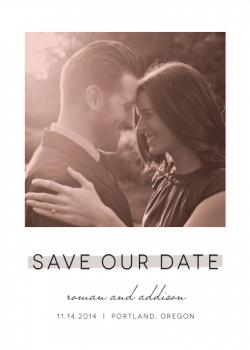 Hazy shade Save the Date Cards
