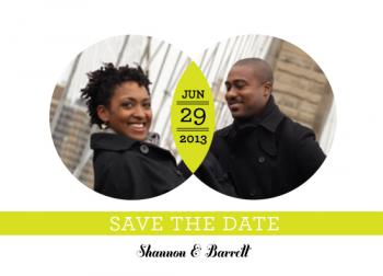 Intersecting Circles Save the Date Cards