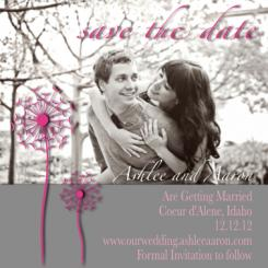 Dandelion Save the Date Cards