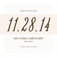 Wallpapered Save the Date Cards