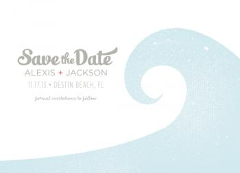 catch the wave Save the Date Cards