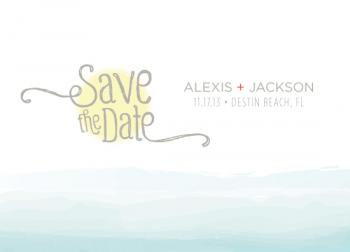 ocean affair Save the Date Cards