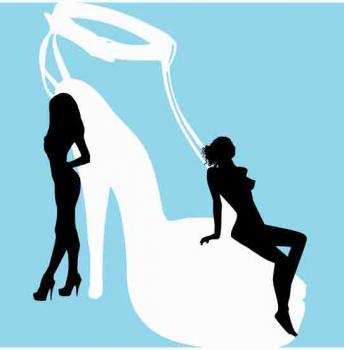 Shoe Girls in Silhouette II Art Prints