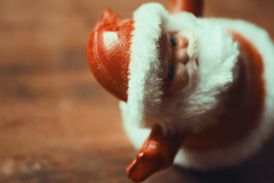 art prints - Kitschy Santa by Lindsey Fowler