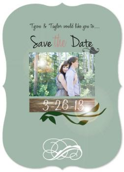 Mystical Garden Wedding Save the Date Cards