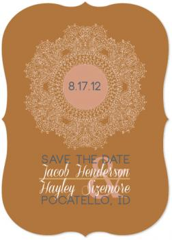 Floral Doily  Save the Date Cards