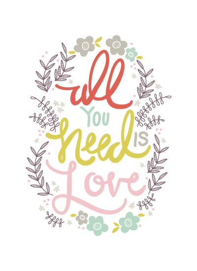 art prints - YouNeedLove by Muffin Grayson
