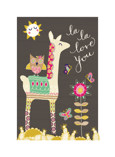 art prints - LlamaLove by Muffin Grayson