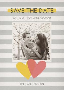 Young Hearts Save the Date Cards