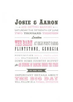 Down Home Country Save the Date Cards