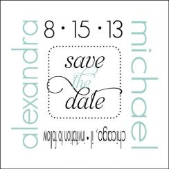 Sophisticated Save the Date Cards