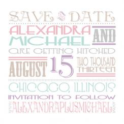 Vintage Typography Save the Date Cards