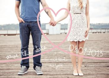 Captured Heart Save the Date Cards