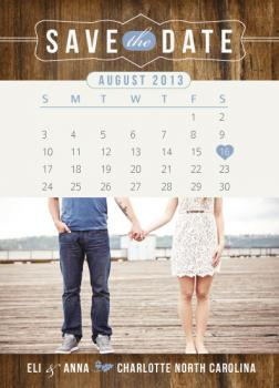 Blueberries and Cream Save the Date Cards