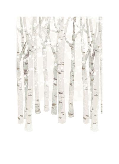 art prints - Birch Woods in Winter by Four Wet Feet Studio