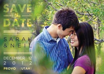 Sheer Love Save the Date Cards