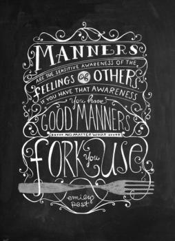 Manners Art Prints