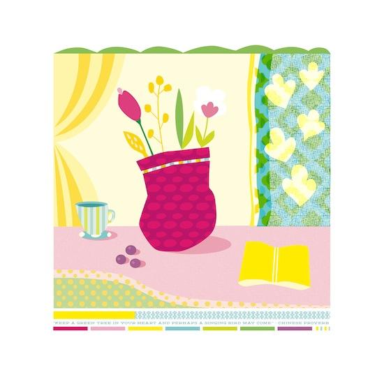 art prints - Tea Bouquet by lb