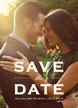 Elegance of the Day Save the Date Cards
