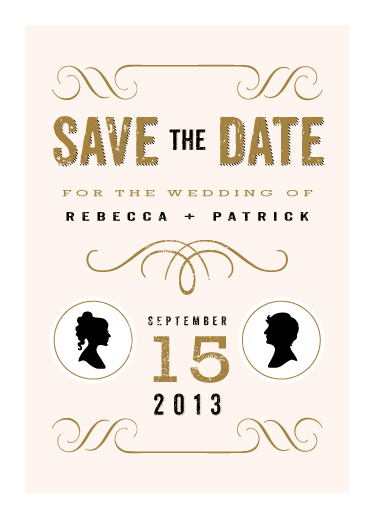 save the date cards - A Modern Announcement by Serenity Avenue