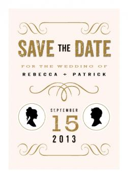 A Modern Announcement Save the Date Cards