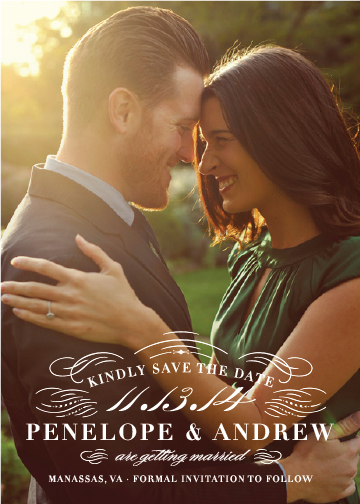 save the date cards - Refined by Sarah Brown
