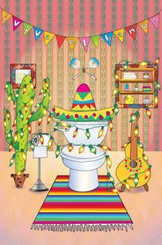 Viva el bano bathroom art