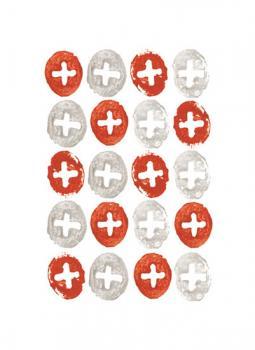 stamped cross circles