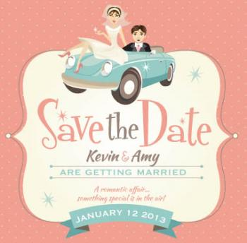 romantic affair Save the Date Cards