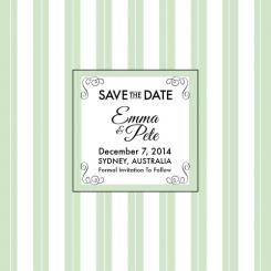 Love In Mint Save the Date Cards