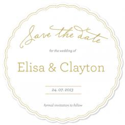 Golden love Save the Date Cards