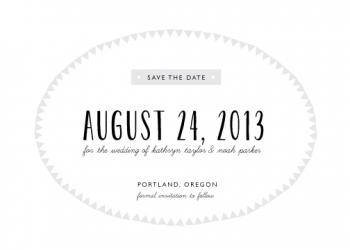 Center Stage Save the Date Cards