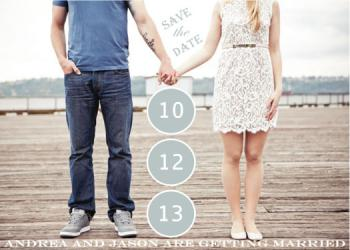 loving hands Save the Date Cards