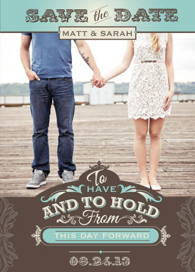 save the date cards - to have and to hold by heather