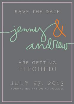 Happily Handwritten Save the Date Cards