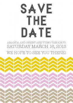 Triple Chevron Save the Date Cards