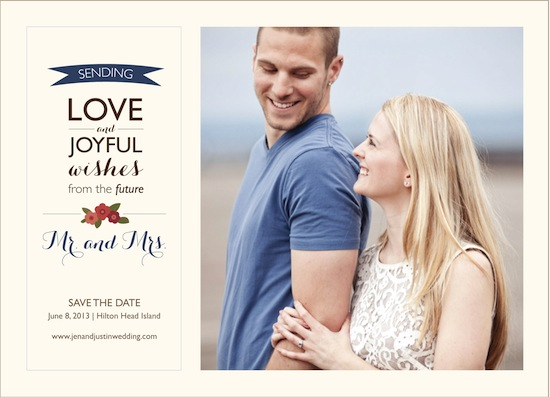 save the date cards - Future Mr. & Mrs. by Brittany Warren