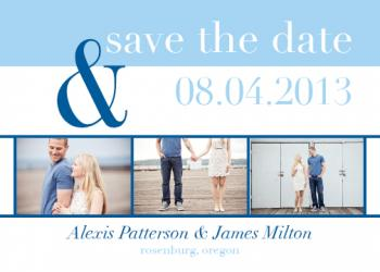 Modern Photo Strip Save the Date Cards