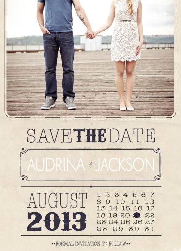 save the date cards - Type the Date by Twigs Print Studio