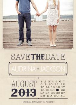 Type the Date Save the Date Cards