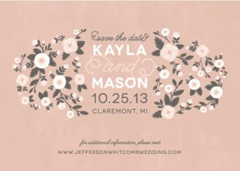 Blooming Cheer Save the Date Cards