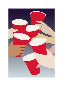 Red cups! Art Prints