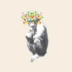 monkey see Art Prints