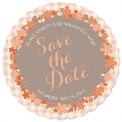 Sweet Flora Save the Date Cards