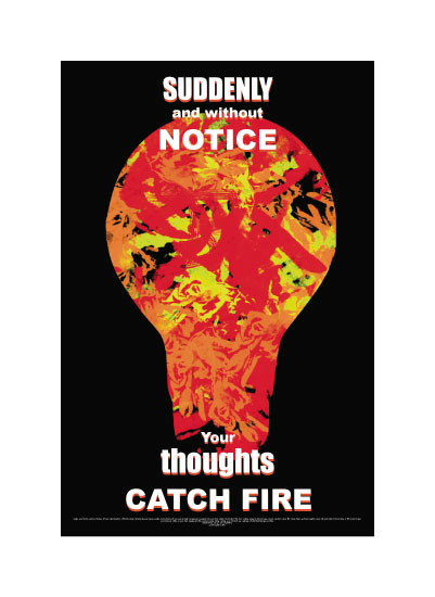 art prints - Your Thoughts Catch Fire by Andrew Sanchez