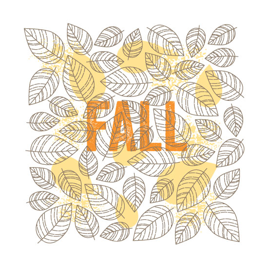 art prints - Tyographical Seasons: Fall by Smudge Design