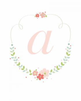Floral Wreath Monogram Art Prints