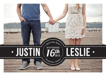 Bold Banner Save the Date Cards