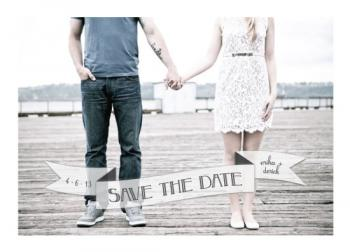 Flutter Banner Save the Date Cards